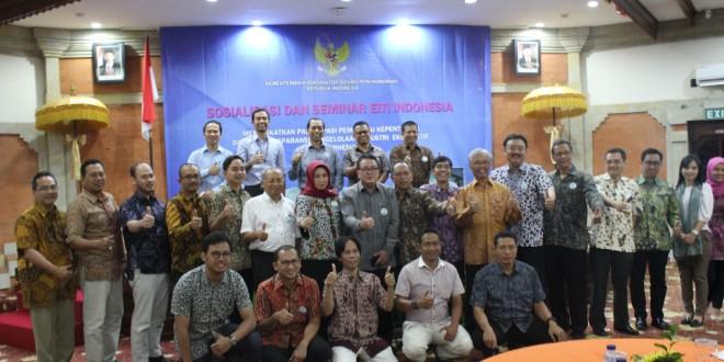 "Sosialisasi: ""Meningkatkan Partisipasi Pemangku Kepentingan Dalam Transparansi Pengelolaan Industri Ekstraktif di Indonesia"", Bali, 25 Agustus 2016"