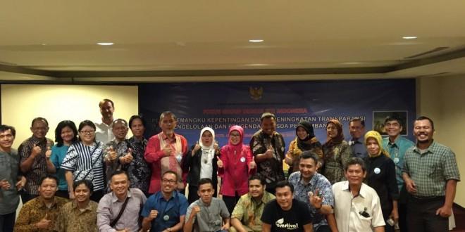 FGD: Peran Pemangku Kepentingan Dalam Peningkatan Transparansi Pengelolaan SDA Pertambangan, Palembang, 27 September 2016