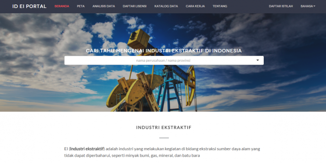 Portal Data Industri Ekstraktif Indonesia