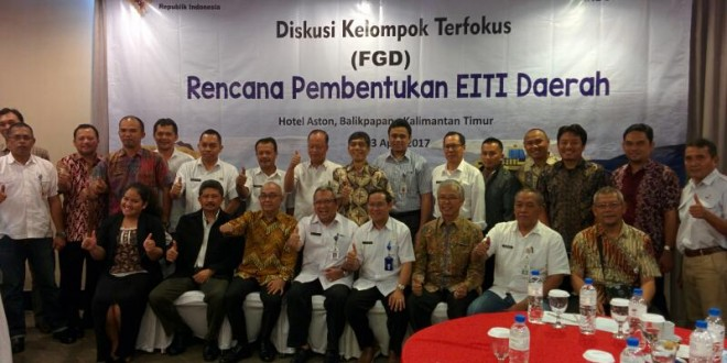 Focus Group Discussion: Sub National EITI, Balikpapan, East Kalimantan