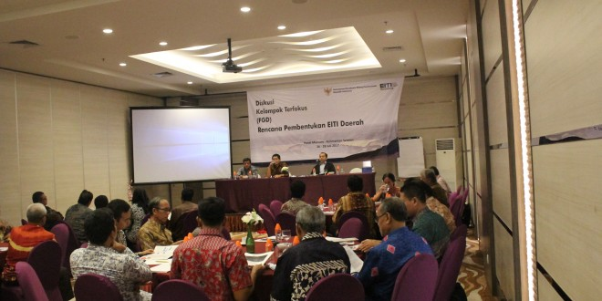 Dissemination of EITI Report 2014 and FGD Sub-National EITI, Banjarmasin